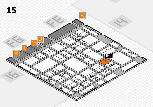 glasstec 2016 hall map (Hall 15): stand B41