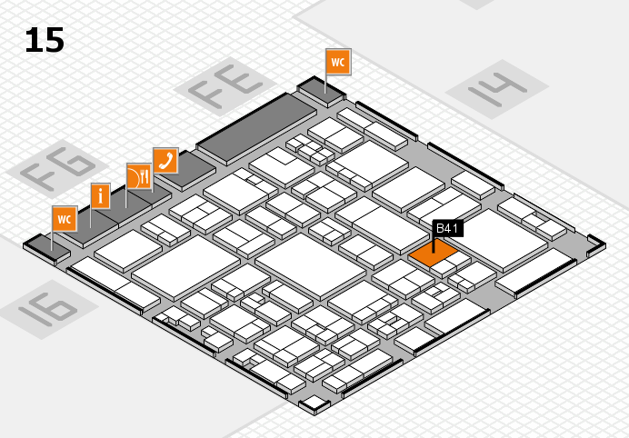 glasstec 2016 hall map (Hall 15): stand B41