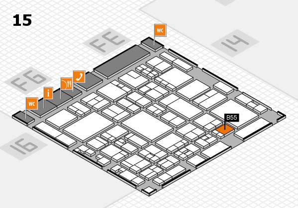 glasstec 2016 hall map (Hall 15): stand B55