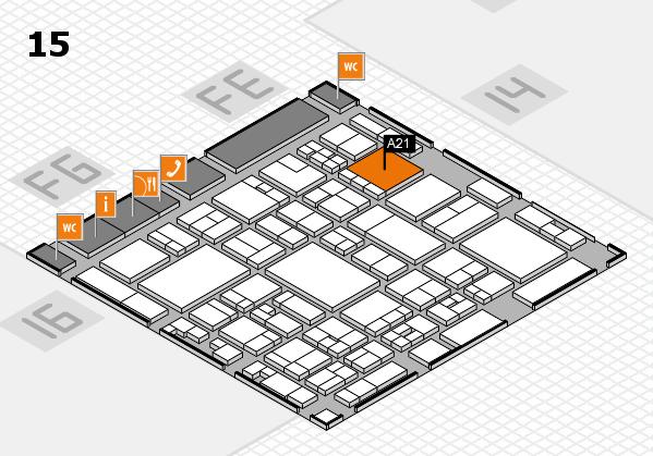 glasstec 2016 Hallenplan (Halle 15): Stand A21