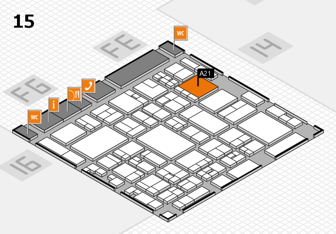 glasstec 2016 hall map (Hall 15): stand A21