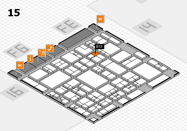 glasstec 2016 hall map (Hall 15): stand B13