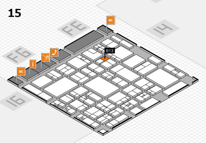 glasstec 2016 hall map (Hall 15): stand B13