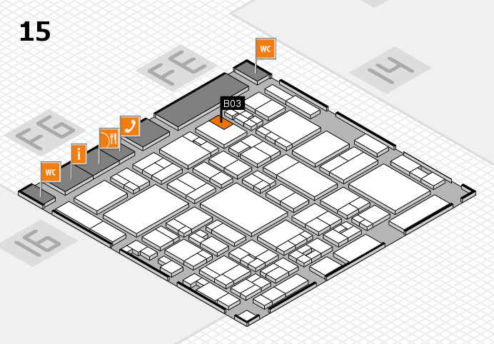 glasstec 2016 hall map (Hall 15): stand B03