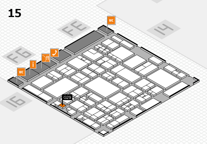 glasstec 2016 hall map (Hall 15): stand G29