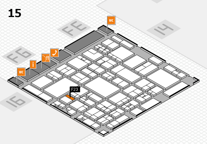 glasstec 2016 hall map (Hall 15): stand F23