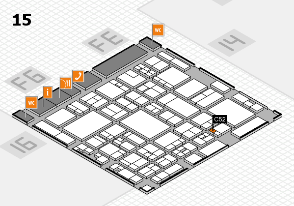 glasstec 2016 hall map (Hall 15): stand C52