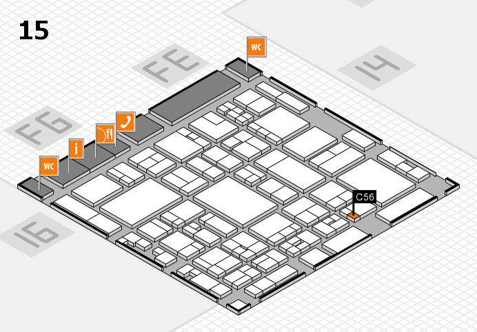 glasstec 2016 hall map (Hall 15): stand C56