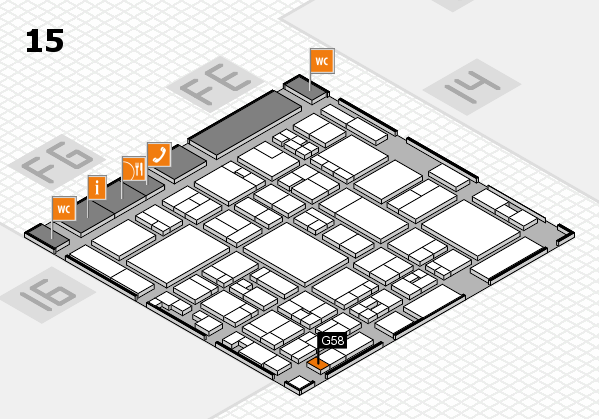 glasstec 2016 hall map (Hall 15): stand G58