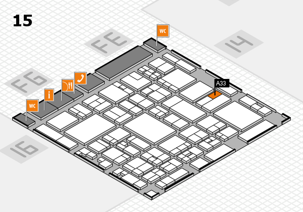 glasstec 2016 hall map (Hall 15): stand A33