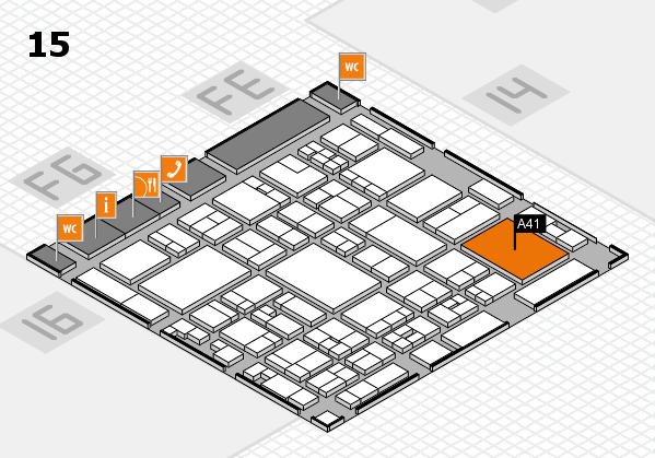 glasstec 2016 Hallenplan (Halle 15): Stand A41