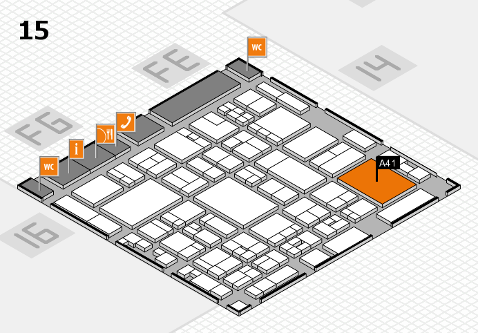 glasstec 2016 hall map (Hall 15): stand A41