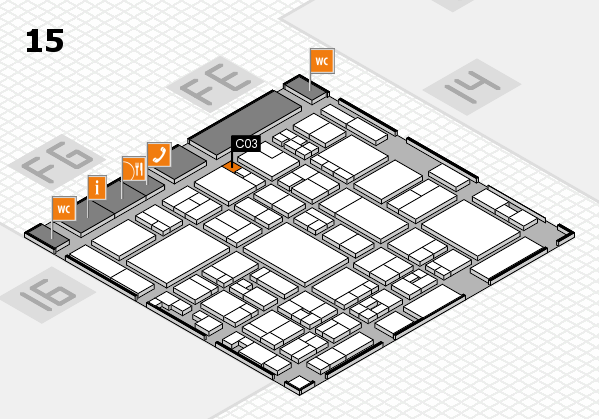 glasstec 2016 hall map (Hall 15): stand C03