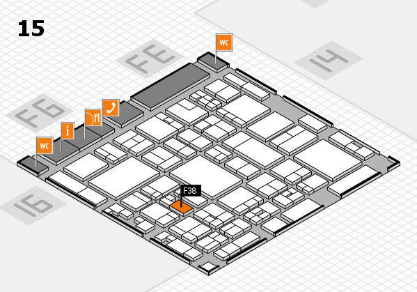 glasstec 2016 hall map (Hall 15): stand F38
