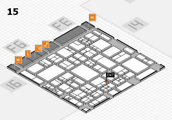 glasstec 2016 hall map (Hall 15): stand D47