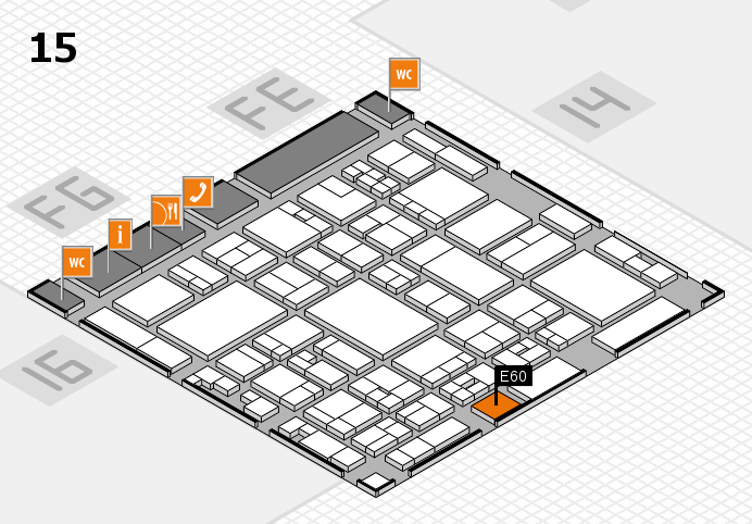 glasstec 2016 Hallenplan (Halle 15): Stand E60
