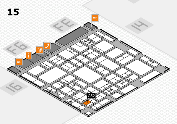 glasstec 2016 hall map (Hall 15): stand G52