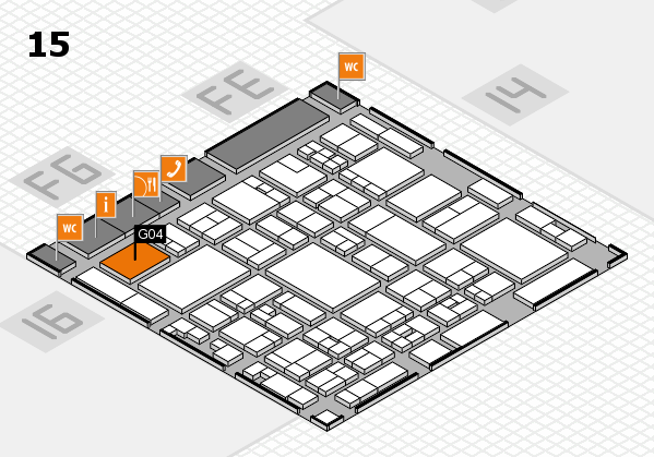 glasstec 2016 hall map (Hall 15): stand G04