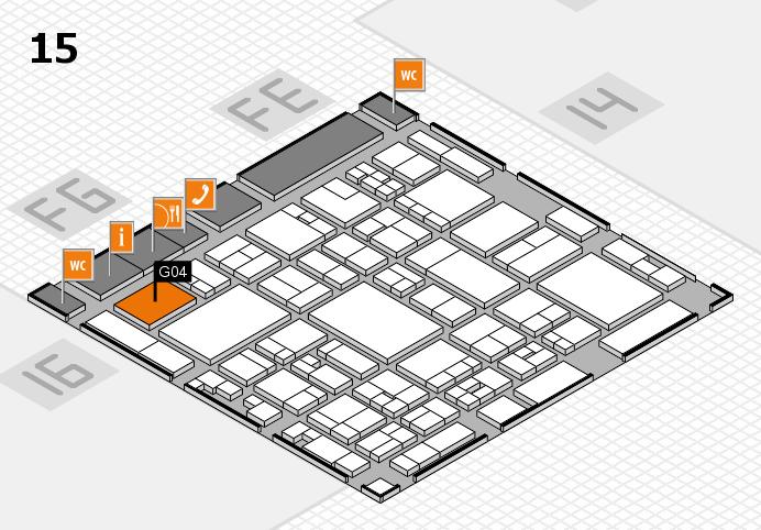 glasstec 2016 Hallenplan (Halle 15): Stand G04