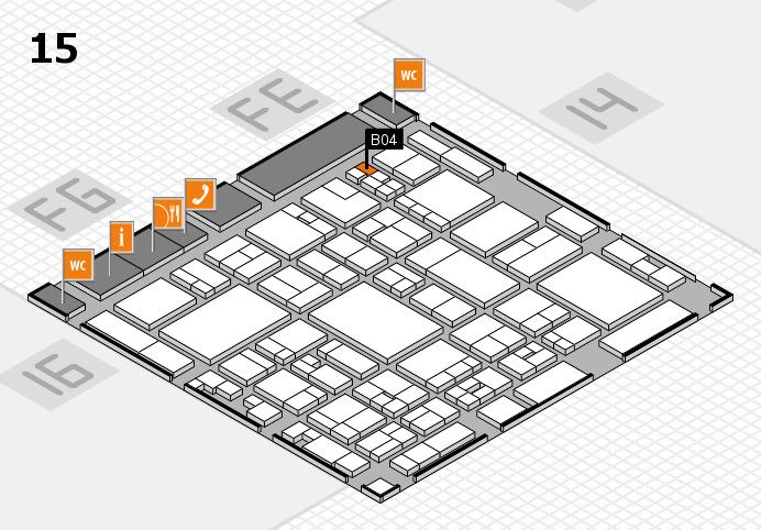 glasstec 2016 hall map (Hall 15): stand B04
