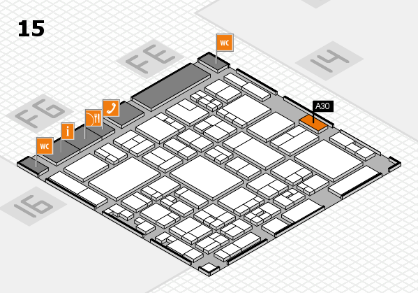 glasstec 2016 hall map (Hall 15): stand A30
