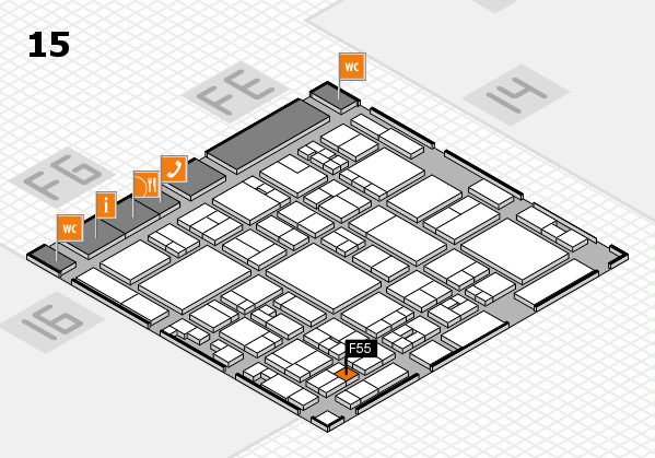 glasstec 2016 hall map (Hall 15): stand F55