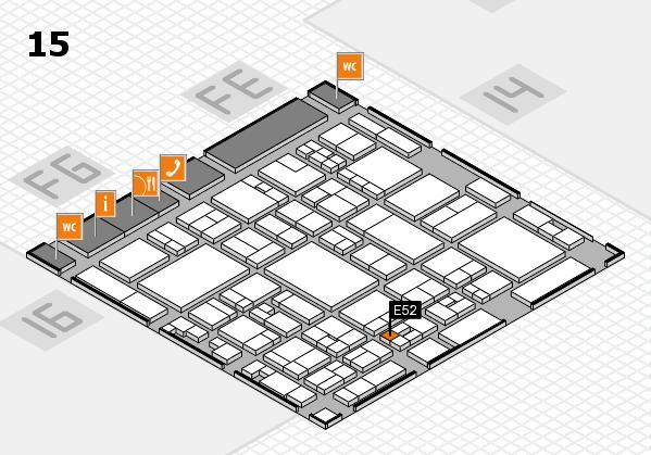 glasstec 2016 hall map (Hall 15): stand E52