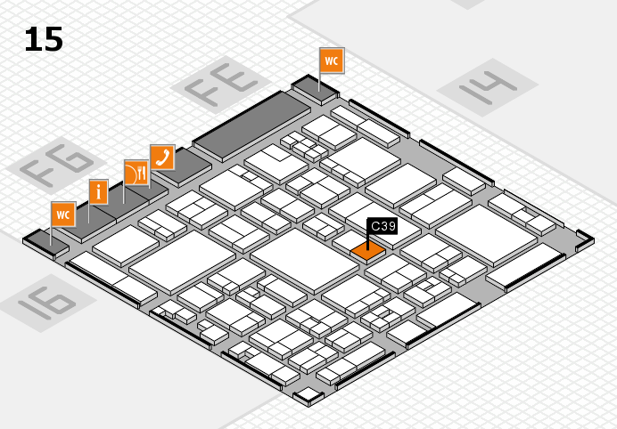 glasstec 2016 hall map (Hall 15): stand C39