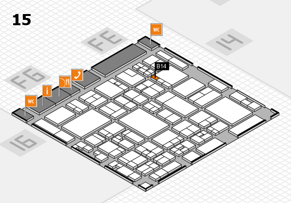 glasstec 2016 hall map (Hall 15): stand B14