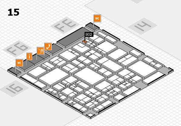 glasstec 2016 hall map (Hall 15): stand B02