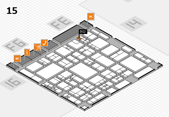 glasstec 2016 hall map (Hall 15): stand B02