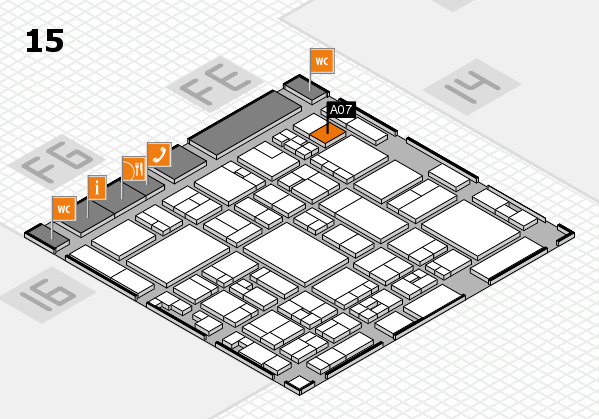 glasstec 2016 hall map (Hall 15): stand A07