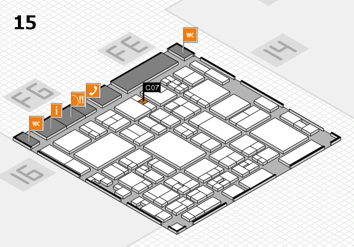 glasstec 2016 hall map (Hall 15): stand C07