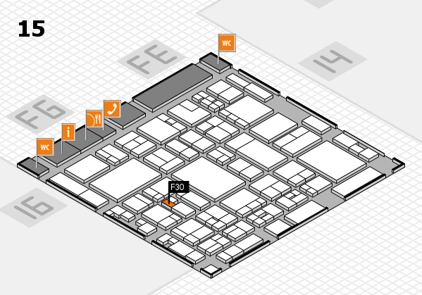 glasstec 2016 hall map (Hall 15): stand F30