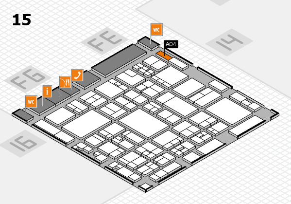 glasstec 2016 hall map (Hall 15): stand A04