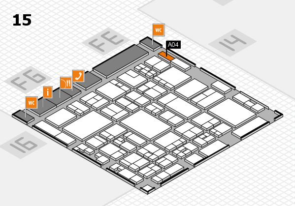 glasstec 2016 Hallenplan (Halle 15): Stand A04
