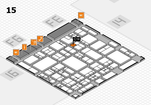 glasstec 2016 Hallenplan (Halle 15): Stand C14