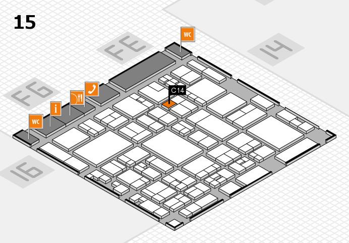 glasstec 2016 hall map (Hall 15): stand C14