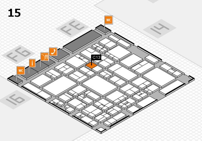 glasstec 2016 Hallenplan (Halle 15): Stand C13