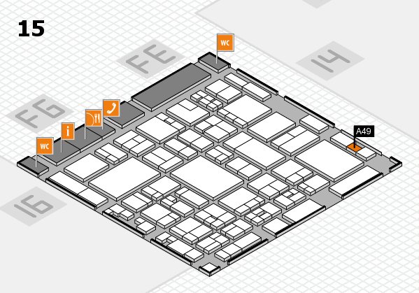 glasstec 2016 hall map (Hall 15): stand A49