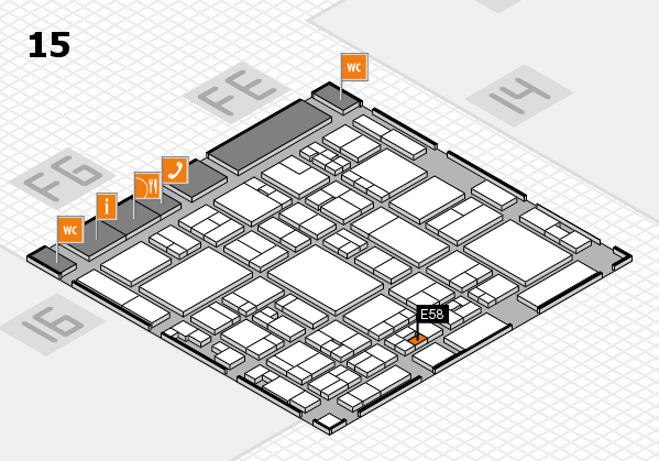 glasstec 2016 hall map (Hall 15): stand E58