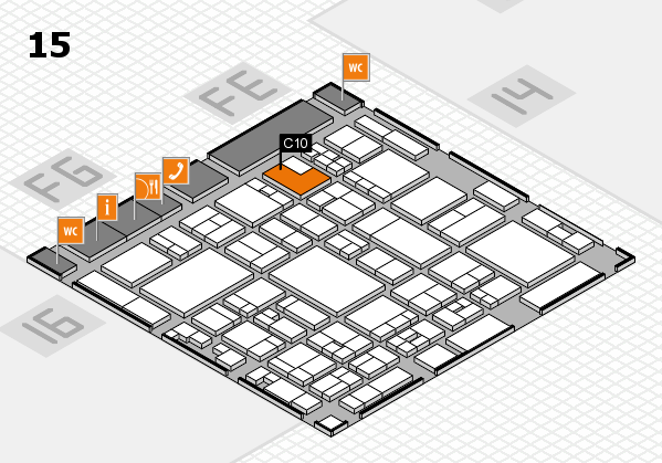 glasstec 2016 hall map (Hall 15): stand C10