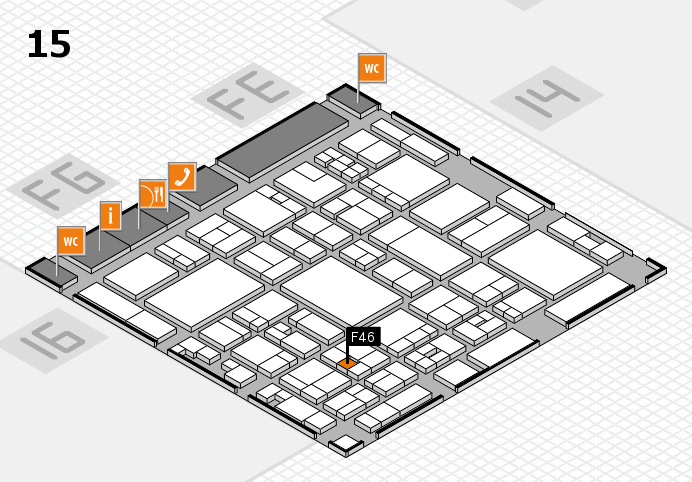glasstec 2016 hall map (Hall 15): stand F46
