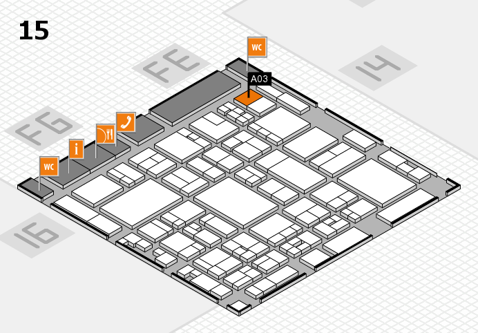 glasstec 2016 hall map (Hall 15): stand A03