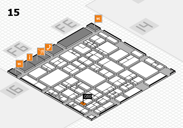 glasstec 2016 hall map (Hall 15): stand G50