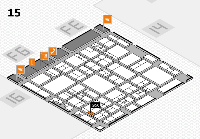 glasstec 2016 hall map (Hall 15): stand G50