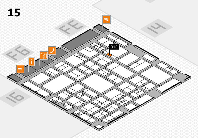 glasstec 2016 hall map (Hall 15): stand B18