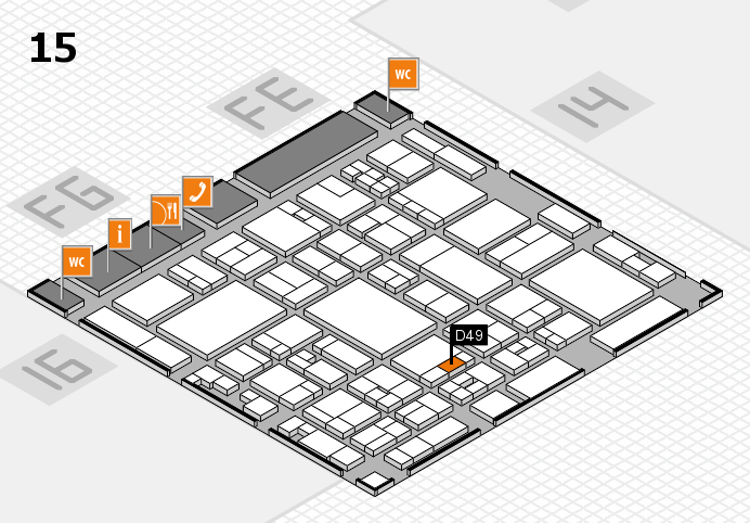 glasstec 2016 hall map (Hall 15): stand D49