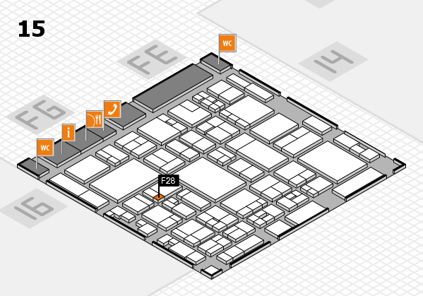 glasstec 2016 hall map (Hall 15): stand F28