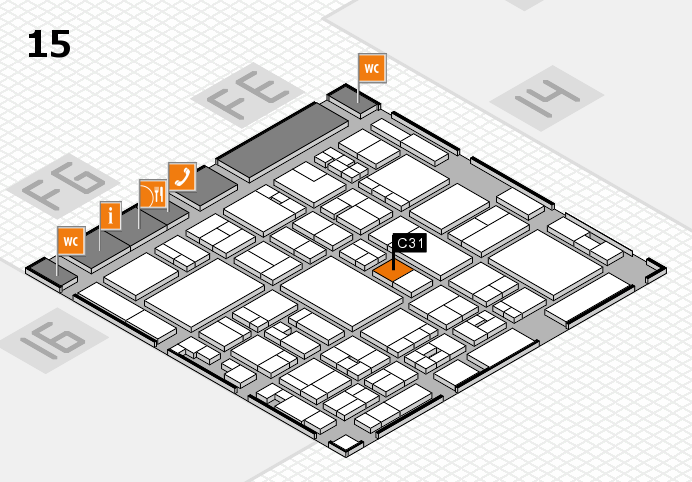 glasstec 2016 hall map (Hall 15): stand C31